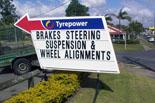 Custom sign for auto repair shop