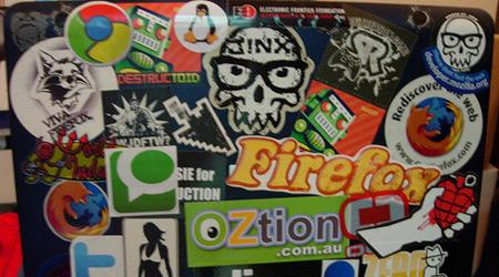 Custom Stickers On Laptop