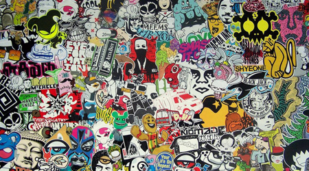A variety of custom stickers