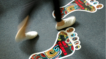 Footprint Floor Decals