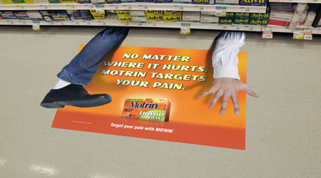 Medicine Advertisement Floor Decals