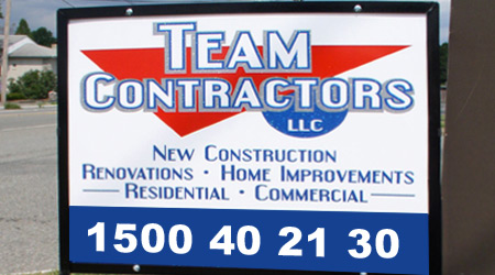 Contractor lawn sign