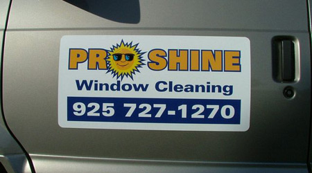 Window Cleaning Magnetic Sign