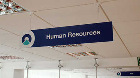 Human Resources PVC Sign