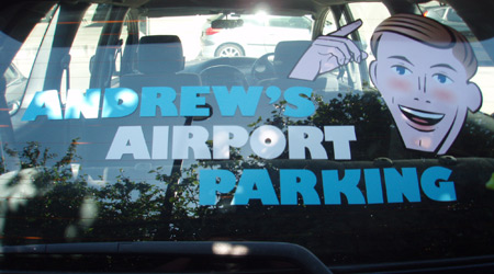 Airport Service Rear Window Graphics