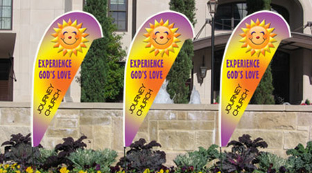Church Invitation Teardrop Flag