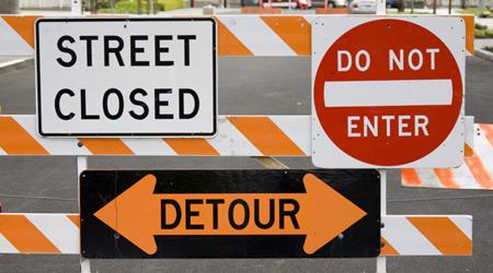 Multiple traffic signs