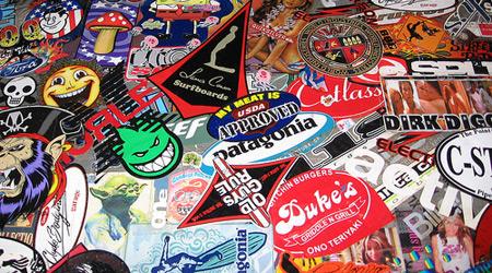 Gorup of Vinyl Stickers